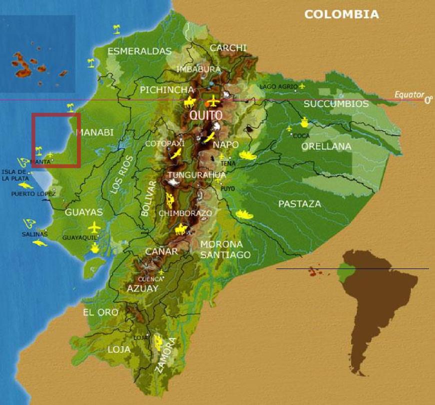 maps of coastal Ecuador | EcuadorBeachfrontProperty.com