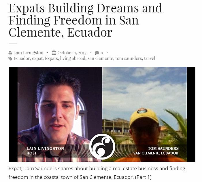 Tom Saunders Ecuador