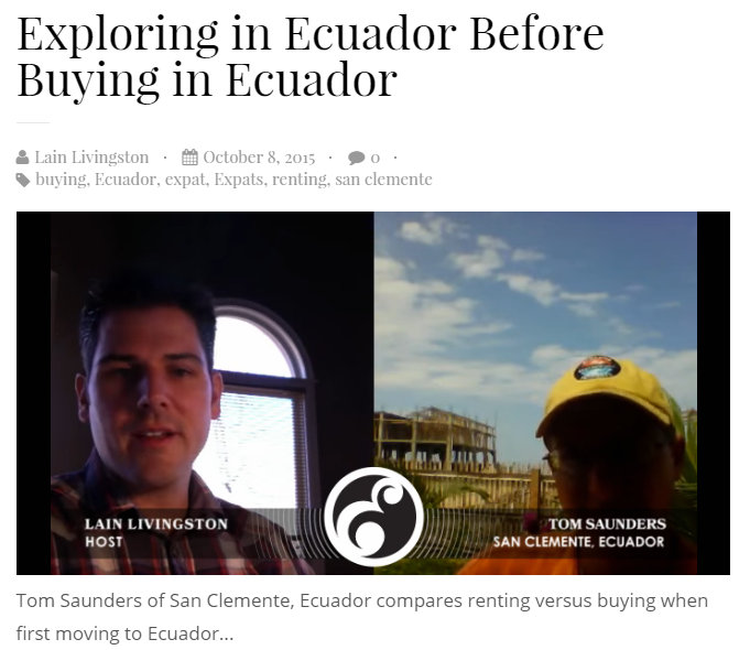 Tom Saunders Ecuador Real Estate Interview